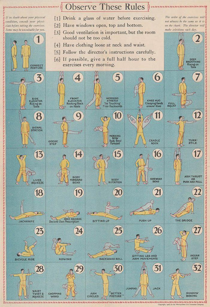 Metropolitan Life Health Exercises Poster
