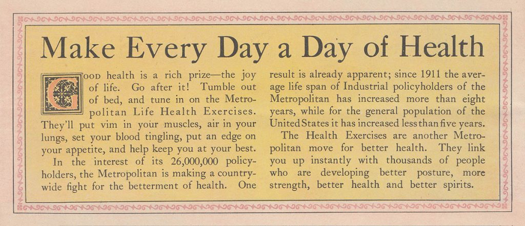 Make Every Day a Day of Health