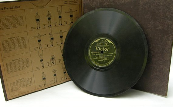 Victor Record Health Exercises Vintage Daily Dozen Set