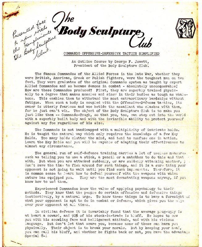Jowett Body Scupture Club Commando Course